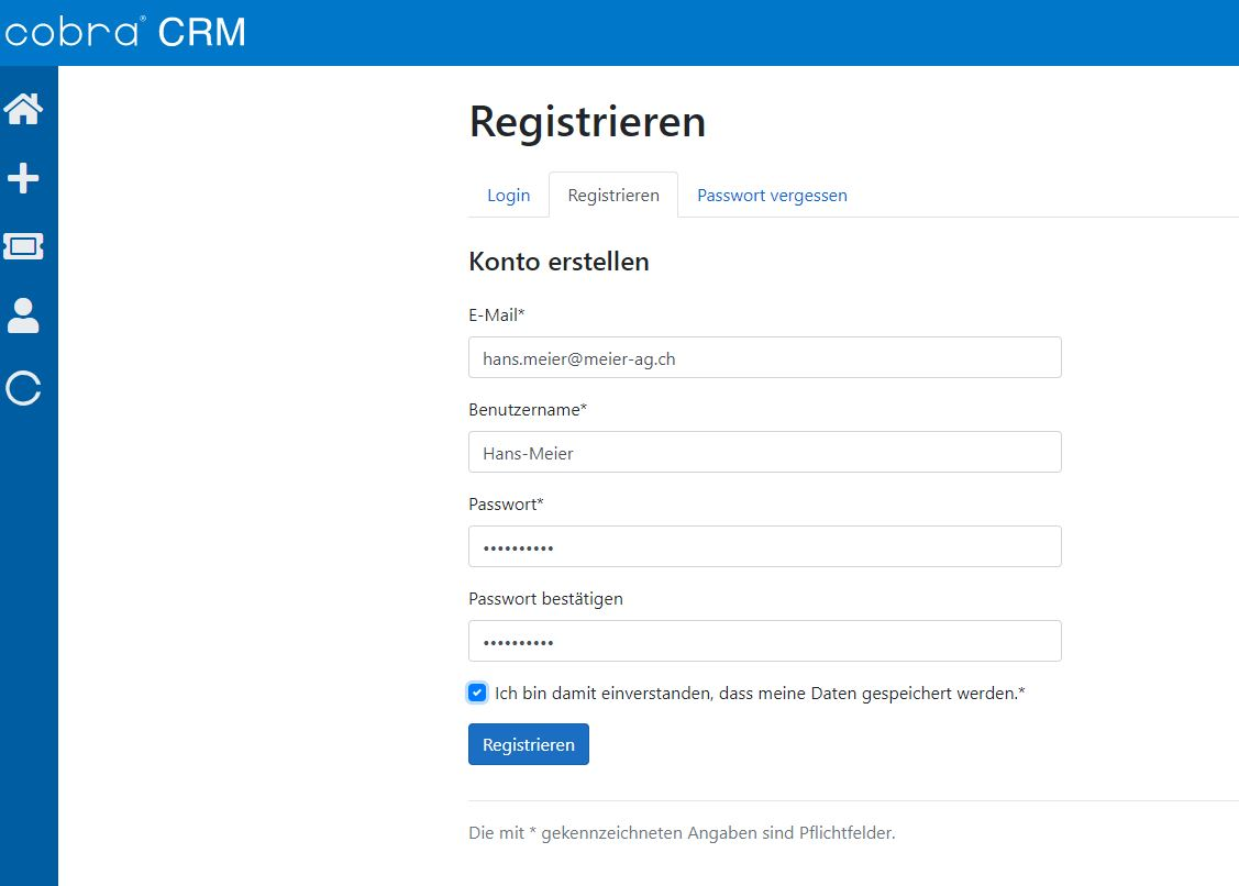Registrierung-Ticketing-Tool